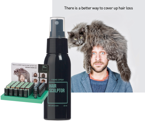 Hair Sculptor - Een oplossing om uitdunnend haar te bedekken